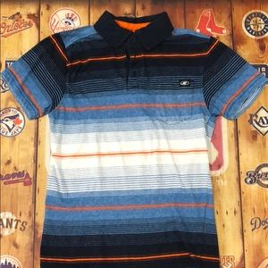 Boys first wave stripped polo.